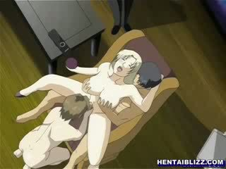 Manga nurse tied up in a gynaecological chair and punishment