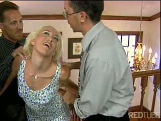 Alana evans gets të dy anë spermë e shtënë