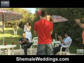 Príťažlivé shemale weddings mov starring senna, alessandra, patricia_bismarck