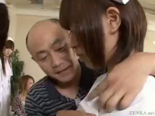 Apstāties the laiks līdz fondle japānieši nurses!