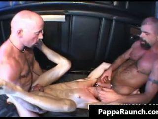Nasty gay dude picks up two horny guys