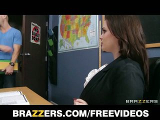 Brunette teacher tessa lane hardcore sex on table