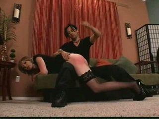over the knee spanking, svižný, otk