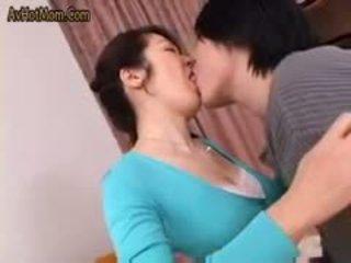 briunetė, oralinis seksas, japonijos
