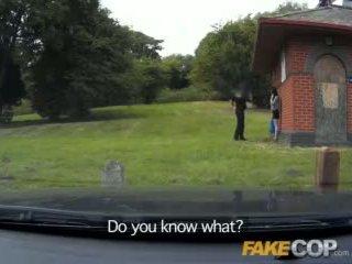 Fake politi anal sex i den barn yard