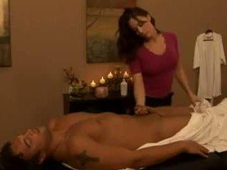 big boobs, amadurece, massagem