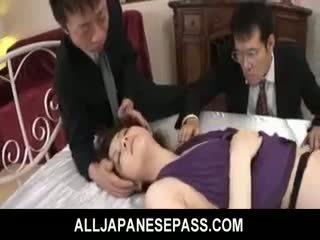 Rina koizumi 熱 亞洲人 模型 在 性感 絲襪 gets 性交