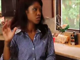 Blonde Teen Worships Black Girl Roommate