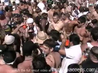 Insane spring pahinga dalampasigan pagtitipon may Mainit naked real girls