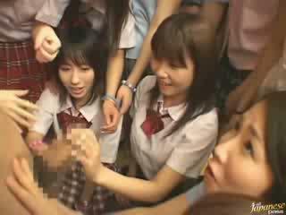 Japonesa mãe teaching vizinha meninas como para caralho vídeo