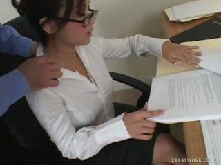 hardcore sex, munnsex, kontor sex