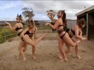 braziliaans, lesbiennes, lingerie