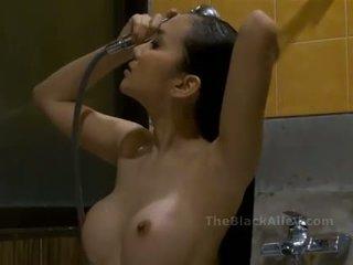 dusch, het, asiatisk