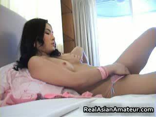 Cudowne orientalne amatorskie fucks sama