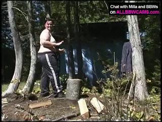 Bbw wood cutting. thenã¢â€â¦ poesje tijd