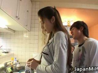 japonec, kuchyně, milf