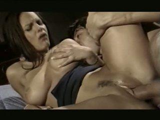 bruneta, orálny sex, skupinový sex