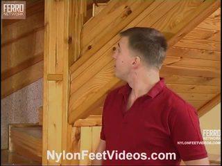 Clothilda dhe peter e ndyrë çorape të gjata këmbë video