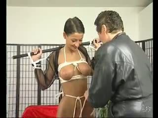 Brunette MILF loves being tied up - Julia Reaves