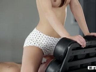 Cute French maid Laila gets laid