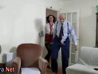 Amateur stockings brit threesome