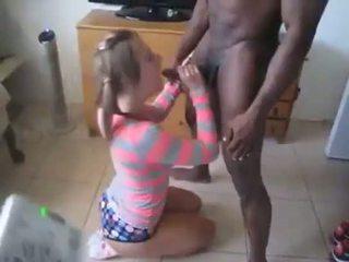 Interracial white pussy on black dick she got skillz Headgame.