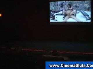 Amateur Slut Sucks Cock In Public Cinema