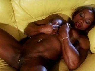 Nero muscle female masturbate video