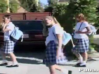 School Girls a cock After School