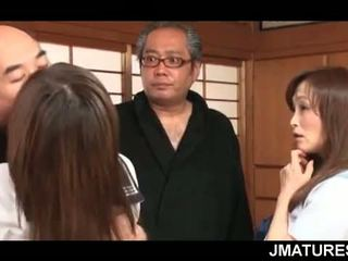 japonski, group sex, babica