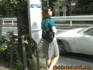 Мила азіатська краля attacked на a автобус поїздка