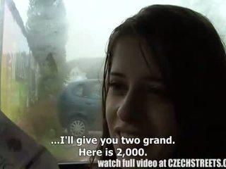 Séc đại học cô gái ngoài trời giới tính vì tiền mặt