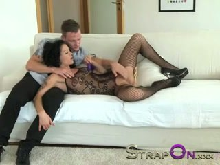 StrapOn Vibrator cockring double penetration for MILF