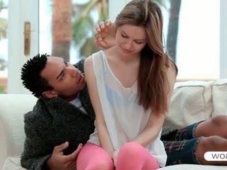 Innocent Zoe In Pink Stockings Seducing Her Boyfriend