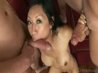 brunette, group sex, first time