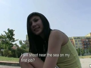 Pretty Czech girl Mona banged for money