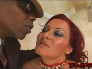 Sandra Romain gang banged and fucked in ass by black monster cock