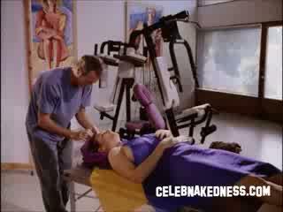 Celeb mimi rogers big bare breasts getting massaged in movie full body massage
