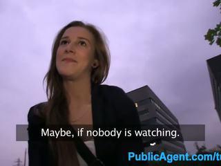 PublicAgent Young dumb brunette fucked...