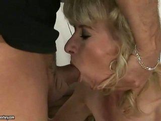 hardcore sex, régi, nagymama