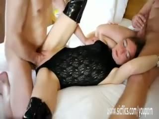 Double Fisting and Fucking Skinny Teen...