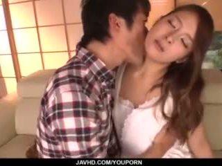 Nana ninomiya, príťažlivé manželka, amazes hubby s plný porno