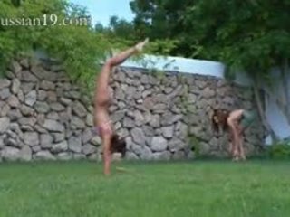 فتاة, الروسية, في الهواء الطلق