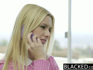Blacked блондинки съпруга kennedy kressler gets отмъщение с а голям черни хуй