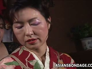 Asian Mature Bitch Has a Rope Session to Endure: Porn f5
