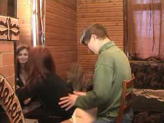 Russian mom is fucked by her son friend video