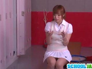 Yuu namiki schattig aziatisch meisje, die is addicted naar seks