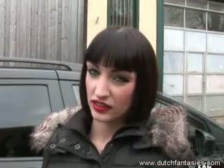 ボインの オランダ語 女の子 飢えた のために セックス