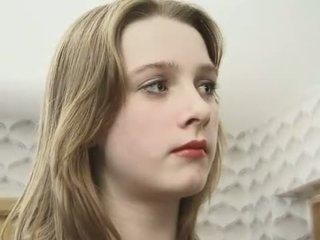 Loira jovem grávida em collants gets dela peluda nookie fingered
