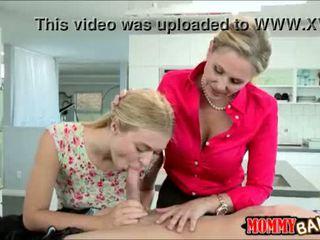 Natalia Starr sharing cock with huge hooters stepmom Julia Ann